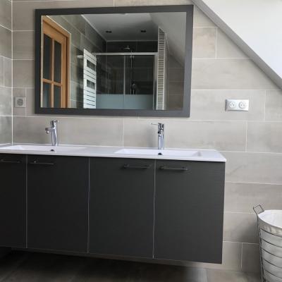 Meuble salle de bain et miroir assorti
