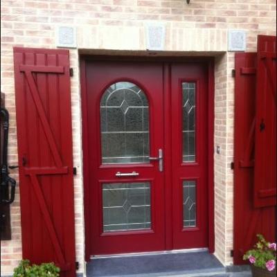 Porte Bel'M Windsor avec semi fixe coloris rouge 3004