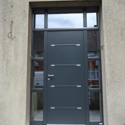 Porte Bel'M Zen avec fixe latéral antélio argent
